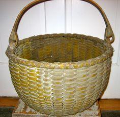 Painted swing handle basket