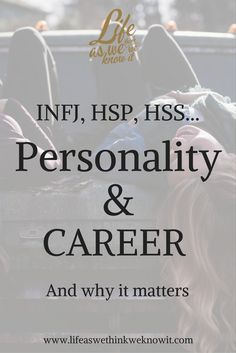 you are an Introvert, Highly Sensitive Person (HSP) or even High Sensation Seeker (HSS), career choices matter!If you are an Introvert, Highly Sensitive Person (HSP) or even High Sensation Seeker (HSS), career choices matter! Highly Sensitive Person Traits, Sensitive People, Introvert Personality, Personality Psychology, Personality Types, Seeker Quotes, Career Choices, Get To Know Me, Life Purpose