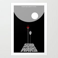 Star Wars- A New Hope III Art Print by IIIIHiveIIII - $16.00