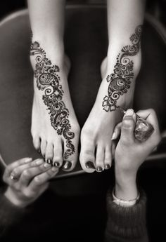 Henna Feet Patterns For Girls