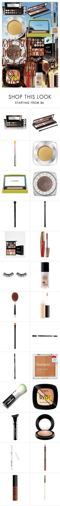 Kylie Jenner Inspired Brown Lip & Golden Eyes Makeup Tutorial by oroartye-1 on Polyvore featuring beauty, Artis, Gucci, LORAC, MAC Cosmetics, MAKE UP FOR EVER, NARS Cosmetics, lilah b., NYX and L'Oréal Paris