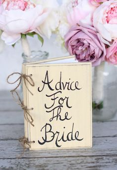 Bridal Shower Guest Advice Book Shabby Chic by braggingbags, $34.99