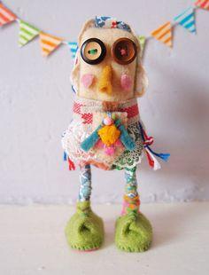 Happy bird Animal Handmade doll - Holly