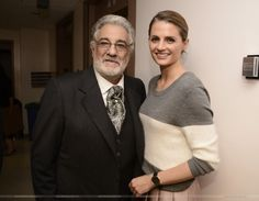 "#StanaKatic & #PlacidoDomingo at L.A. Opera's ""La Traviata"" opening night (2014)"
