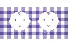 Tweelingkaart! Babies op blokjes