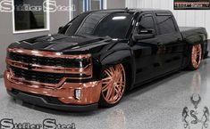 Rose Gold Finish (Illustration)  STIFLER STEEL - GOLDEN CONCEPTS  #StiflerSteel #chevy #stiflersteel #chevyduramax #Silverado #GM #truckporn  #trucknation #chevysilverado #Tuckdaily #Drag #truck #bagged #baggedlife #PowerStroke Chevy Duramax, Silverado Truck, Dually Trucks, Chevy Pickup Trucks, Chevy Pickups, Chevrolet Trucks, Diesel Trucks, Custom Chevy Trucks, New Trucks