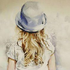 Mobile LiveInternet Mein Leben ist in Aquarell geschrieben - Funmey Paintings I Love, Acrylic Paintings, Painting People, Watercolor Artwork, Learn To Paint, Portrait Art, Art World, Figurative Art, Sculpture Art