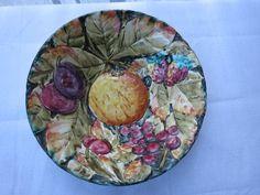 Vintage, Italian, Fratelli Fancillullacci, Majolica Style, Hand Painted Bowl