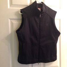 NWT Adidas black sport vest fleece pockets This vest is new with tags! In excellent condition. Never worn. Has two zip pockets on the outside. One zip and one other pocket on the inside. Adidas Jackets & Coats Vests