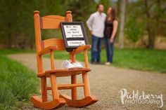 Pickleberry Photography: Pregnancy Announcement Session. rocking chair. for this child we have prayed.