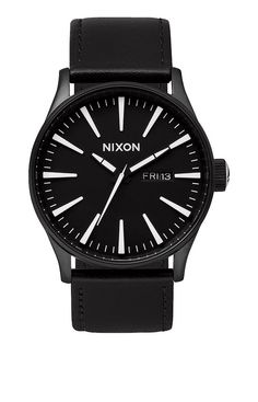 Sentry Leather - All Black Woven | Nixon