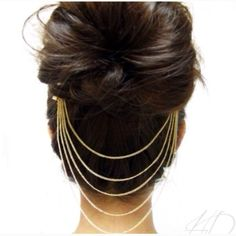 Silver Hair Comb Chain Jewelry