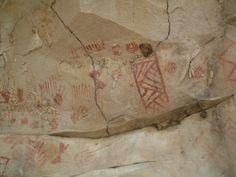Painel rupestre da Localidade Espinhos, em Piripiri (PI).