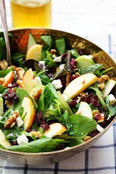 Apple & Cranberry Salad – Thanksgiving Vegetarian Diet Recipe & Weight Loss Tip - DIY Craft (3)