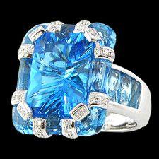 Bellarri Blue topaz and diamond ring