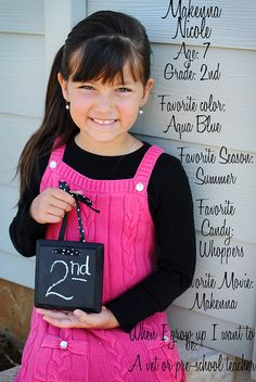 Small chalkboard for each of our students for their first day of school pic'...cute back to school idea