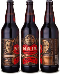 copper kettle brewing | Naja Imperial Red IPA #packaging