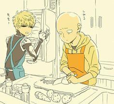 Cooking, Saitama,Genos