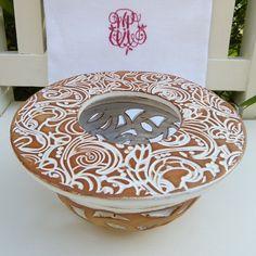 Stövchen von Keramikwerkstatt Johanna Brückner auf DaWanda.com      Ornamente, Keramik