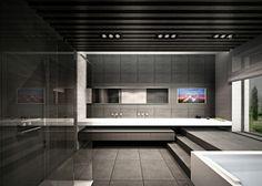 Dramatic bathroom design