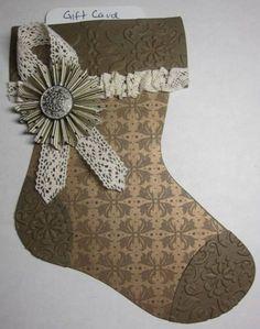 Mocha Stocking gift card holder