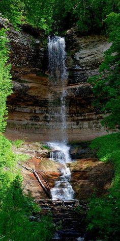Munising Falls, Michigan Climbed these falls as a kid.