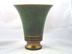 A beautiful Arts & Crafts bronze vase, signed by Carl Sorensen, later of Tiffany Studios