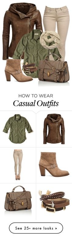 """""""Casual"""" by alice-fortuna on Polyvore featuring Hollister Co., Yves Saint Laurent, Proenza Schouler, Dorothy Perkins and TOKYObay"""