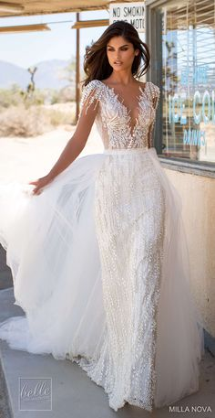 Milla Nova California Dreaming Wedding Dresses 2019 Fiona Source by adrialeaphoto Country Wedding Dresses, Black Wedding Dresses, Princess Wedding Dresses, Boho Wedding Dress, Designer Wedding Dresses, Bridal Dresses, Mila Nova Wedding Dress, Modest Wedding, Wedding Wear