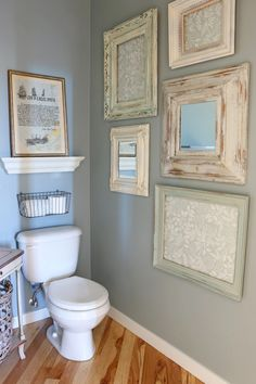 @theinspiredroom  reimagined these worn-out frames with a little TLC and a soothing backdrop (use Opal Silk Green to get the look). Find out her secret for making a hidden gem live up to its full potential on the MyColortopia.com blog.