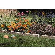 """inexpensive stone-look landscape edging $19.53 for 10 12"""" pieces"""
