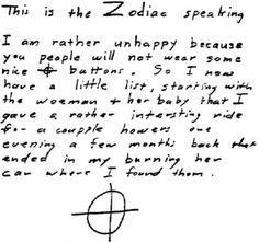 Serial Killer~The Zodiac Killer