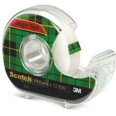 Scotch Magic Tape Dispenser — Scotch Magic tape dispenser is the original matte-finish, invisible tape. Facilitates wrinkle free packing avoids accident and misuse of tapes.