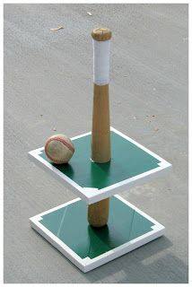 Baseball Cupcake Stand!  So cute for a boy's baseball themed party!( shelby... YES!!!)