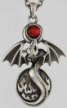 Alchemy Dragon Necklace: I want!!! Look at the little dragon! It's so cute!