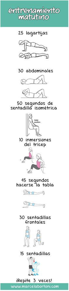 17 Guías visuales de ejercicio que te motivarán a ponerte en forma There are many studies that prove that exercising in the morning is better [. Herbal Remedies, Natural Remedies, Estilo Fitness, Gym Time, Excercise, Reiki, Gym Workouts, Health And Beauty, Herbalism