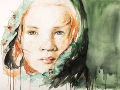 144 Likes, 2 Comments - Raluca Judet Watercolor Portraits, Watercolor And Ink, Watercolor Paintings, Original Paintings, Original Art, Marker Art, Ink Painting, Figurative Art, Buy Art