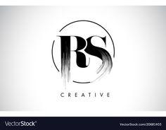 Rs brush stroke letter logo design black paint vector image on VectorStock Photography Logos, Graffiti Photography, Sr Logo, Painting Logo, Paint Vector, Alphabet Images, Studio Background Images, Picture Letters, Logo Restaurant