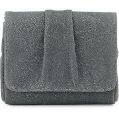 Lauren Merkin Caroline Mini Encrusted Suede Evening Clutch Bag ($85) ❤ liked on Polyvore featuring bags, handbags, clutches, grey, suede purse, evening purse, special occasion clutches, grey purse and mini pochette