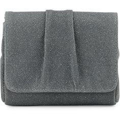 Lauren Merkin Caroline Mini Encrusted Suede Evening Clutch Bag ($85) ❤ liked on Polyvore featuring bags, handbags, clutches, grey, suede purse, evening purse, special occasion clutches, grey purse and mini pochette