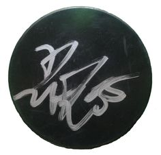 Dustin Penner Autographed Hockey Puck, Proof Photo