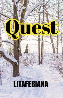 Semuanya bermula dari sebuah tugas.  Quest by Litafebiana  #book #buku #bookcover #writing #writers #read #readers #amwriting #storial #storialco
