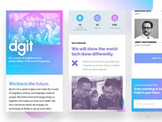 Hey guys!!! Here's the version of the DGiT About us page for the mobile layout. Simple and clean adaptation. I hope you enjoy it! Press L if you like it! Instagram • Twitter • Linkedin