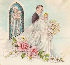 vintage greeting cards | wonderful wedding art prints can be found on vintage greeting cards ...