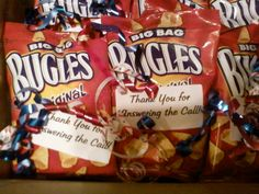 Veteran's Day treats for Vets!  Bugles...Thank You for Answering the Call!