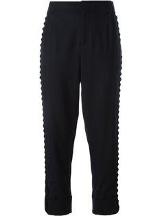 A.F.VANDEVORST pinstripe cropped trousers. #a.f.vandevorst #cloth #trousers