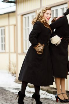 Miss Candyfloss - TopVintage exclusive ~ 50s Gladis Leopard Fur Winter coat