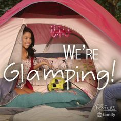 Mariana and Callie's tent on the family trip