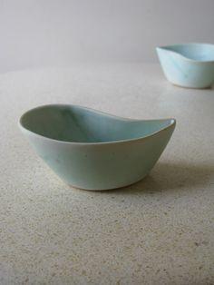 Set of two turquise Ceramic Bowls. $50.00, via Etsy.