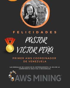 Primer #Coordinador #awsmining en #venezuela... felicidades @victormanuelpenaperez . Comienza hoy.. Somos la Empresa número #1 de minería con visión de futuro. Apenas esto comienza. Estas a tiempo de formar parte del mejor equipo de minería del mundo... #Unete y Gana Estamos minando 24/7 . AWS MINING Minería en la Nube Seguridad y confianza nos respaldan . PLANES DE MINERÍA: . 0.1CMP = 40$ Ganancia diaria: 020$ Ganancia mensual: 6$ Ganancia a 400 Días: 82$ Bono de Equipo:4% . 1.0CMP?